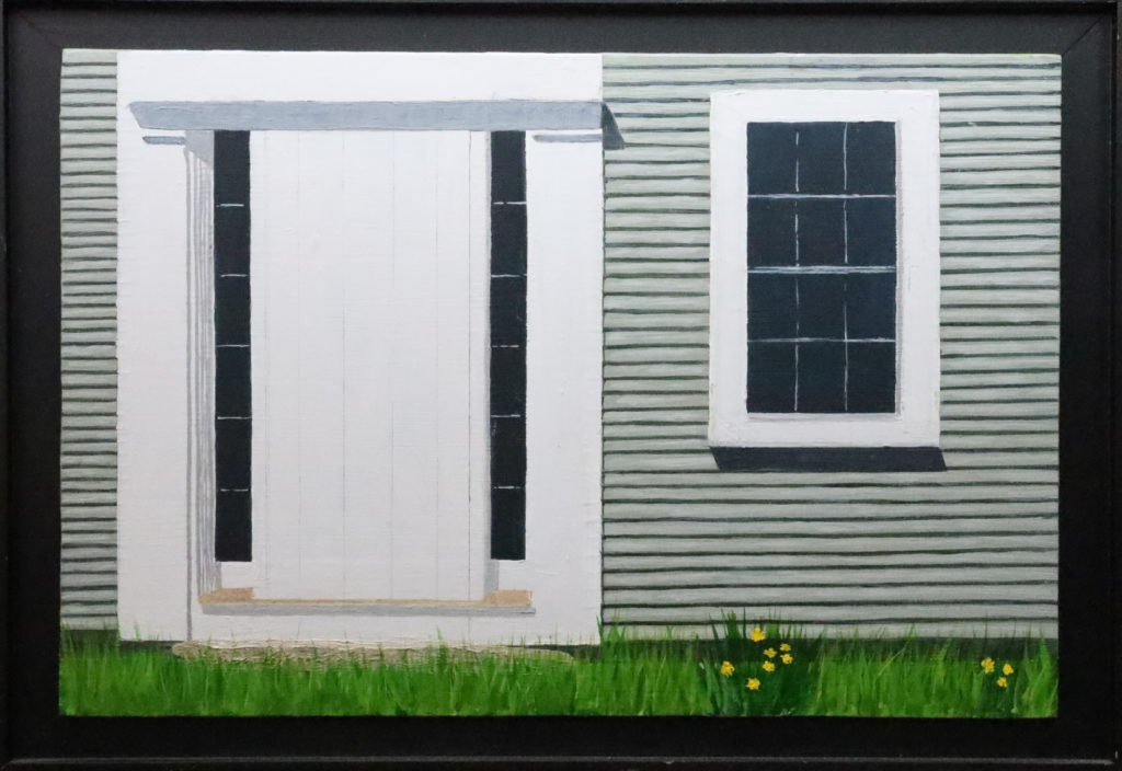Painting of a White Door