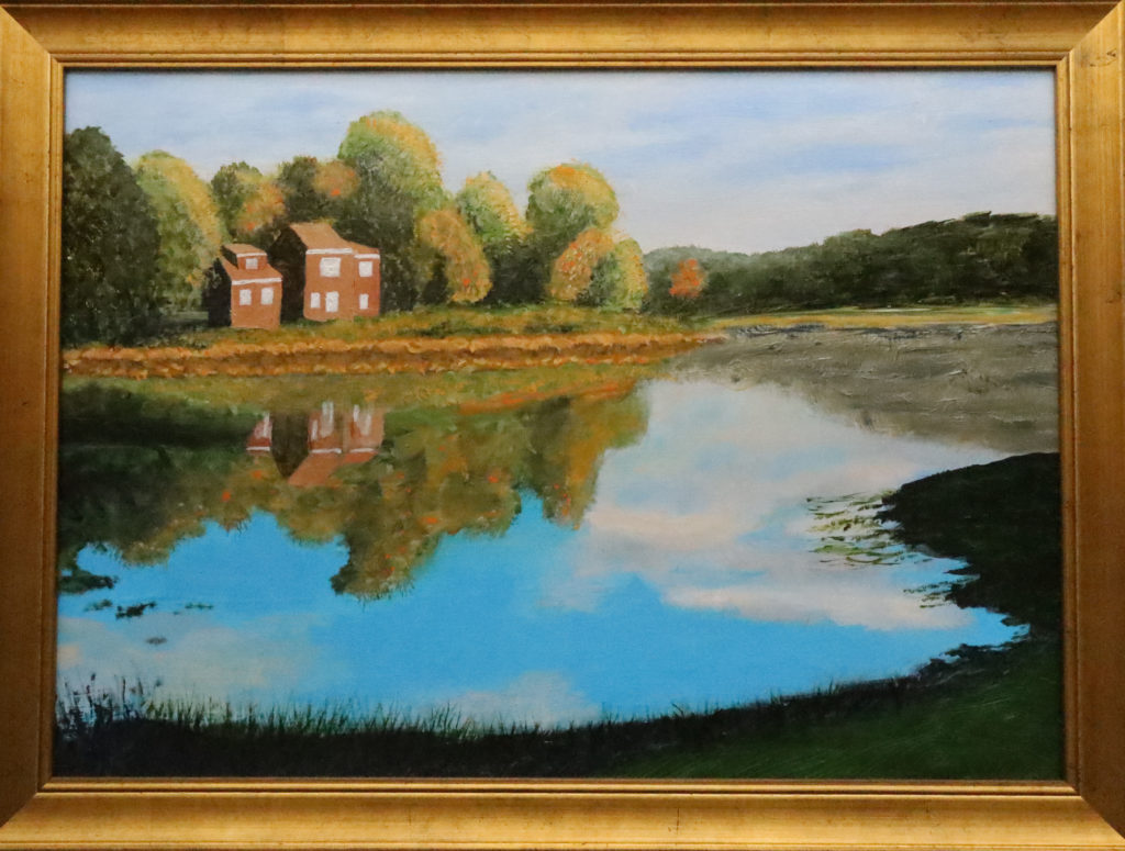 Painting of a quiet Reflection